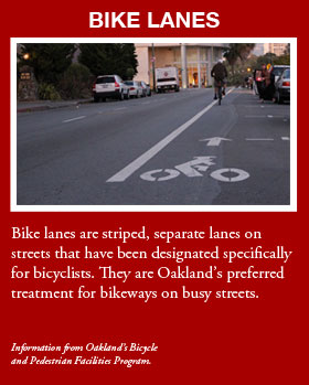Bike lanes graphic