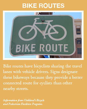 Bike routes graphic