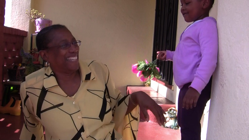 Patricia Jones and her granddaughter in East Oakland